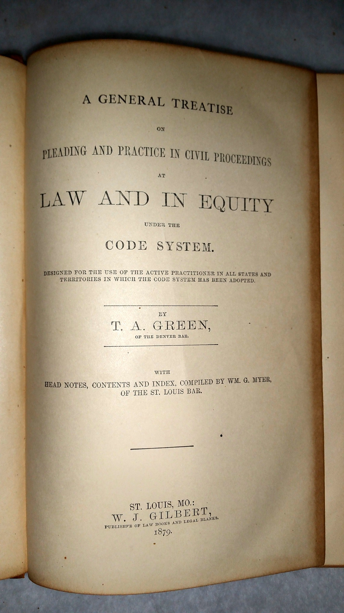Image for A General Treatise on Pleading and Practice in Civil Proceedings at Law and In Equity under the Code System... [with] Kansas Addendum to Green's Pleading and Practice