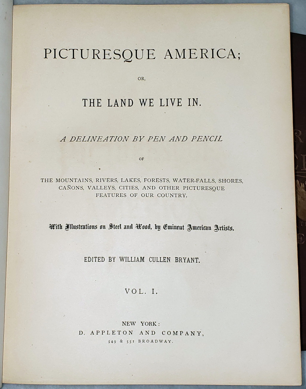 Image for Picturesque America; or, The Land We Live In. A Delineation by Pen and Pencil... (Two Volumes)