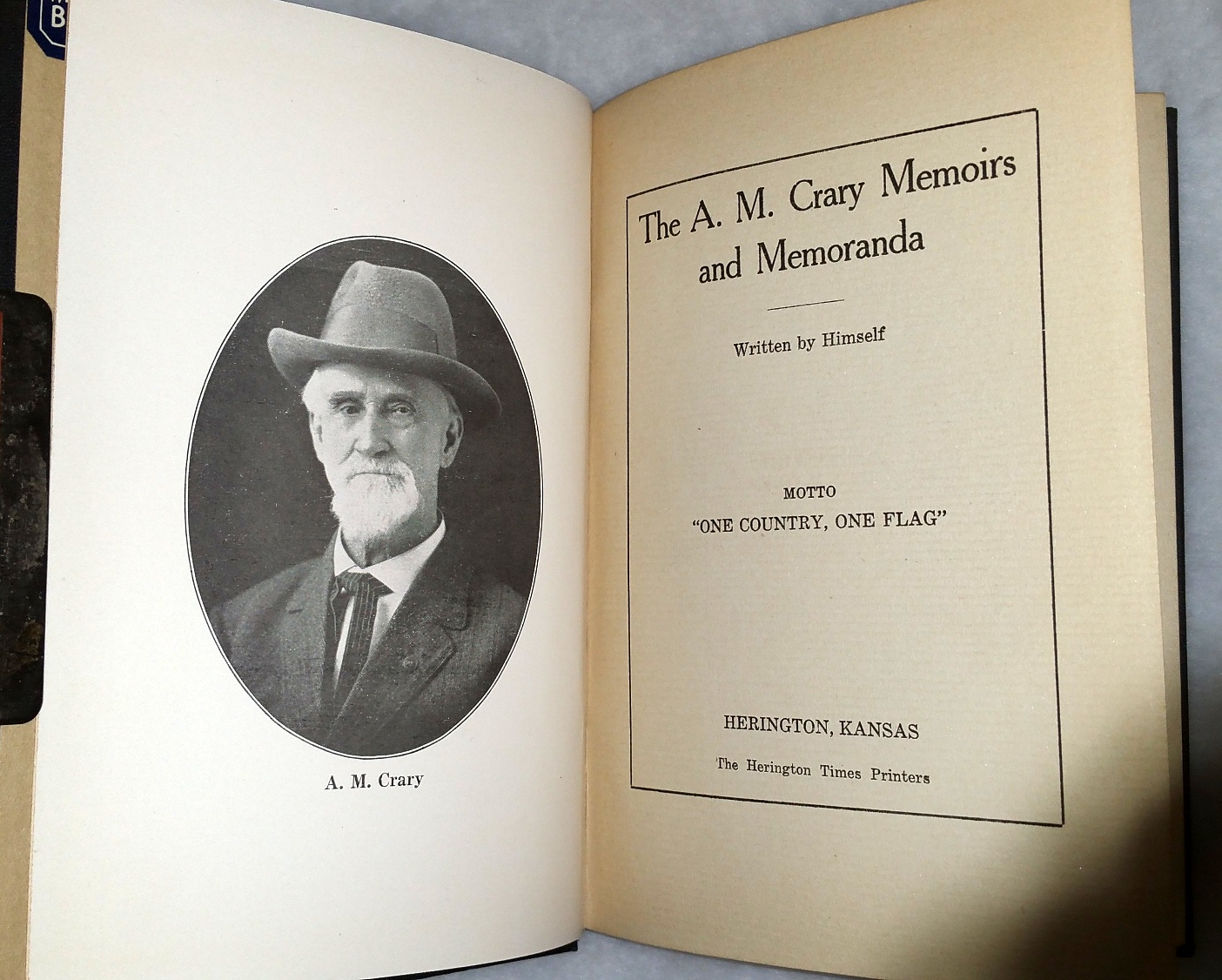 Image for The A. M. Crary Memoirs and Memoranda