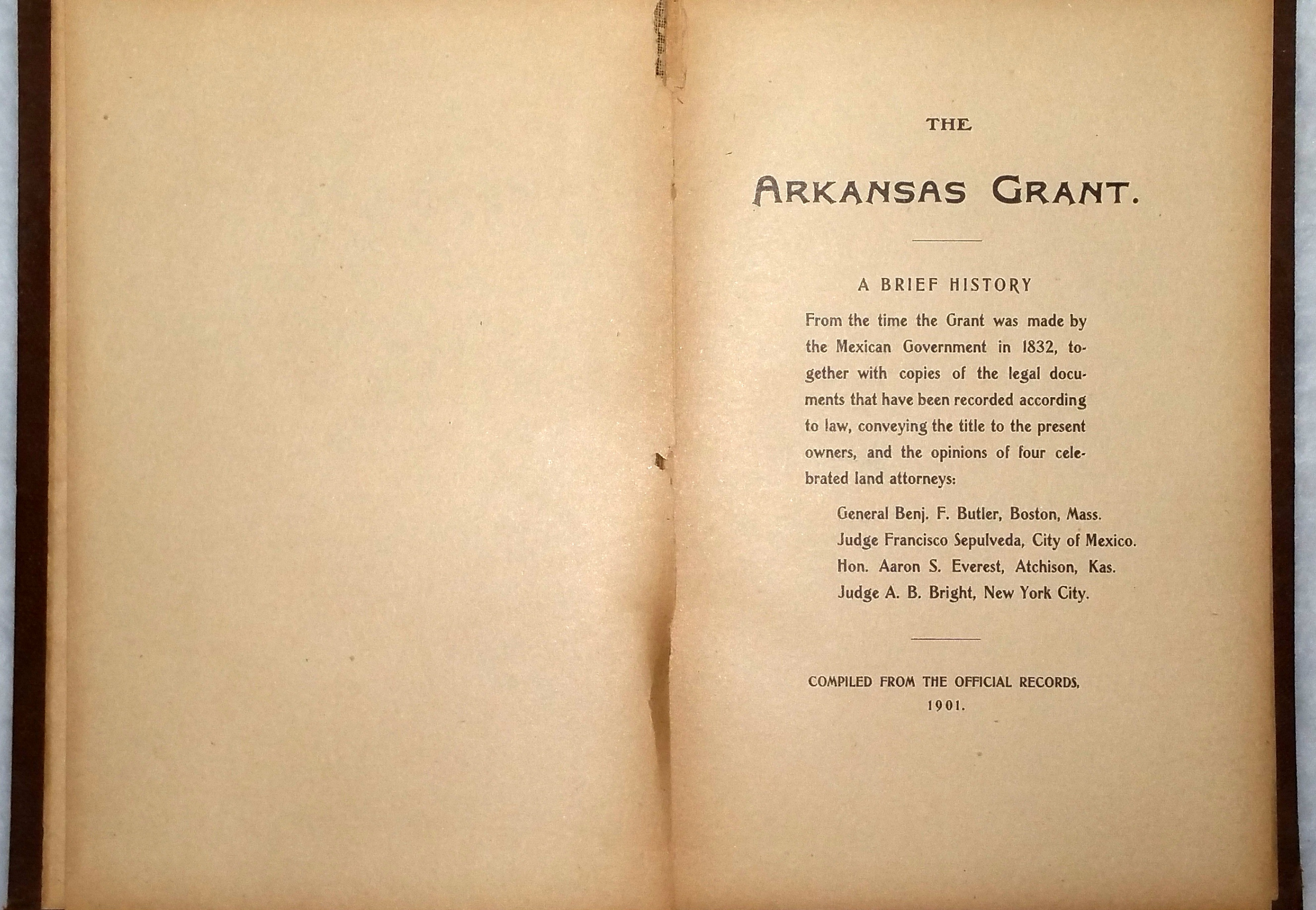 Image for The Arkansas Grant. A Brief History...