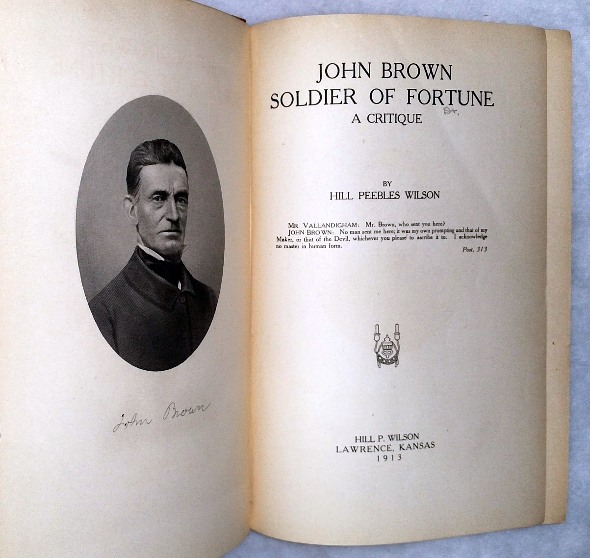 Image for John Brown, Soldier of Fortune: A Critique