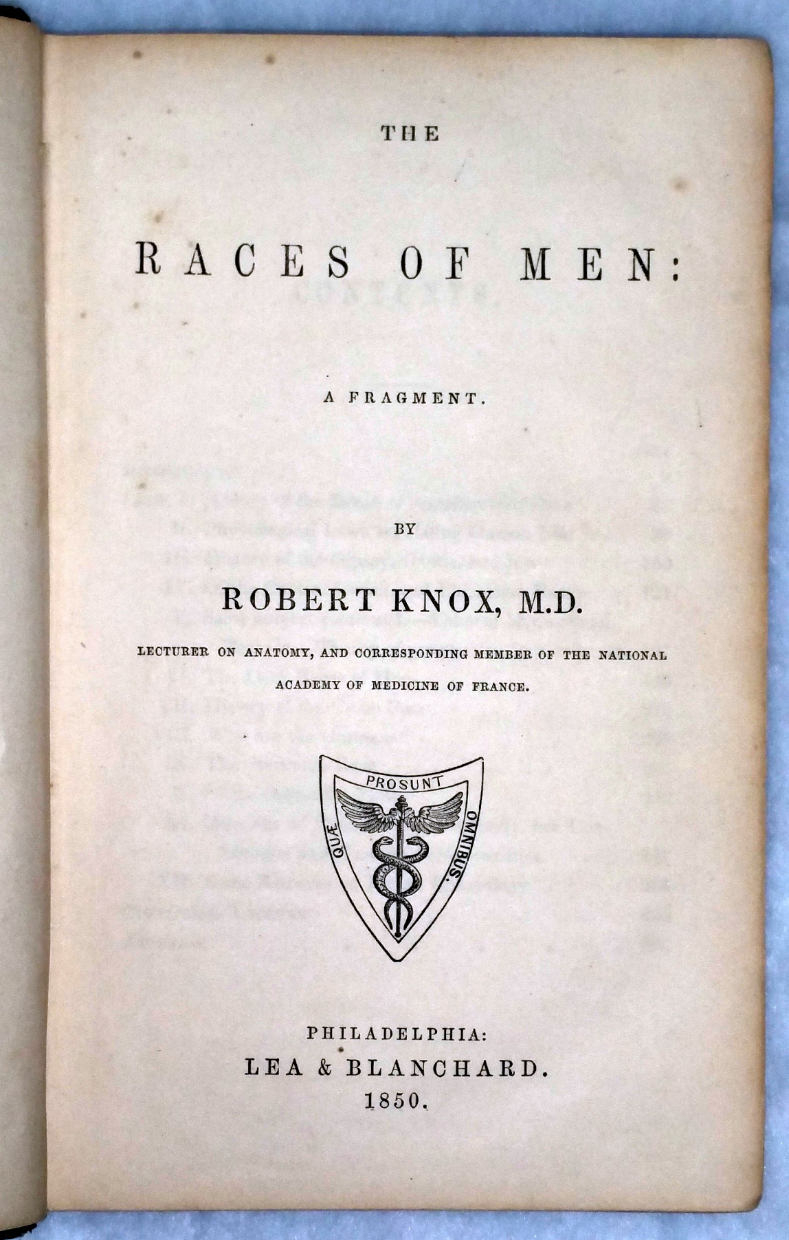 Image for The Races of Men: A Fragment