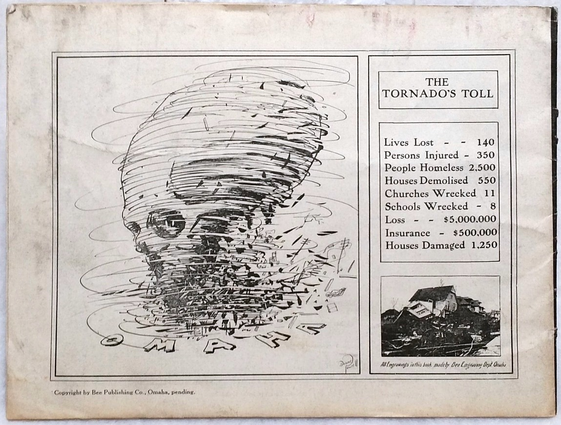 Image for The Track of the Tornado That Struck Omaha at 6 P.M. Easter Sunday, March 23, 1913