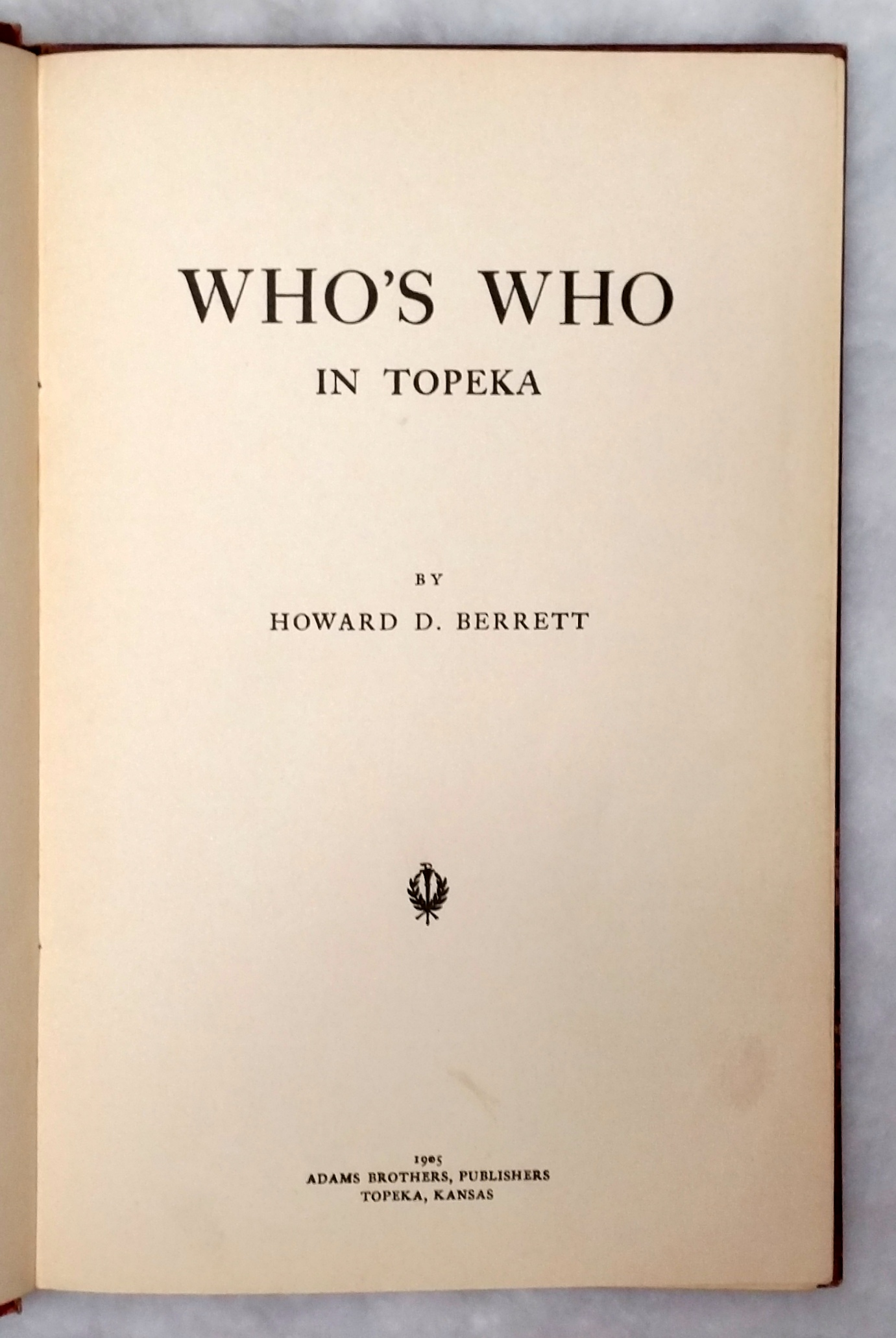 Image for Who's Who In Topeka