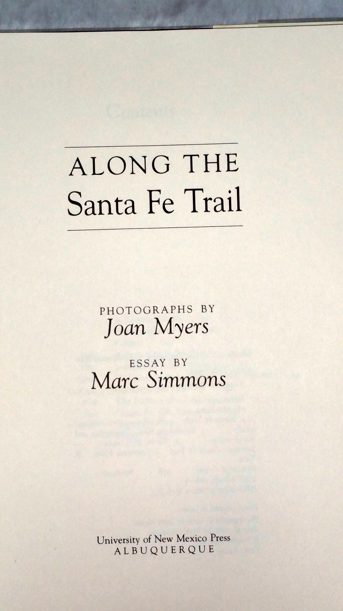 Image for Along the Santa Fe Trail