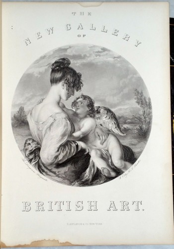 Image for The New Gallery of British Art Containing One Hundred and Twenty-one Engravings on Steel, From the Works of Distinguished British Painters (Two Volumes)