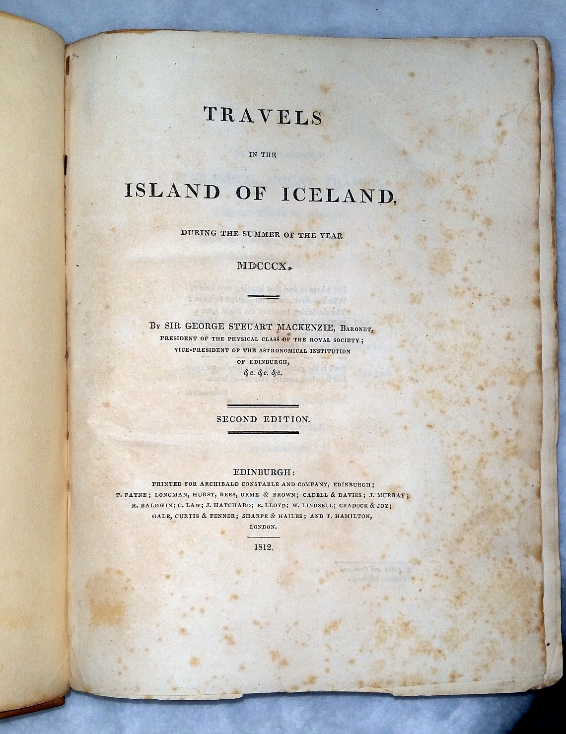 Image for Travels in The Island of Iceland during the Summer of the Year MDCCCX