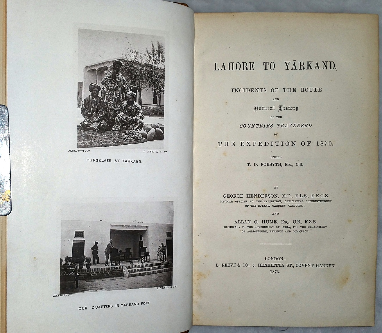 Image for Lahore to Yarkand.  Incidents of the Route and Natural History of the Countries Traversed By the Expedition of 1870, Under T. D. Forsyth, Esq., C.B.