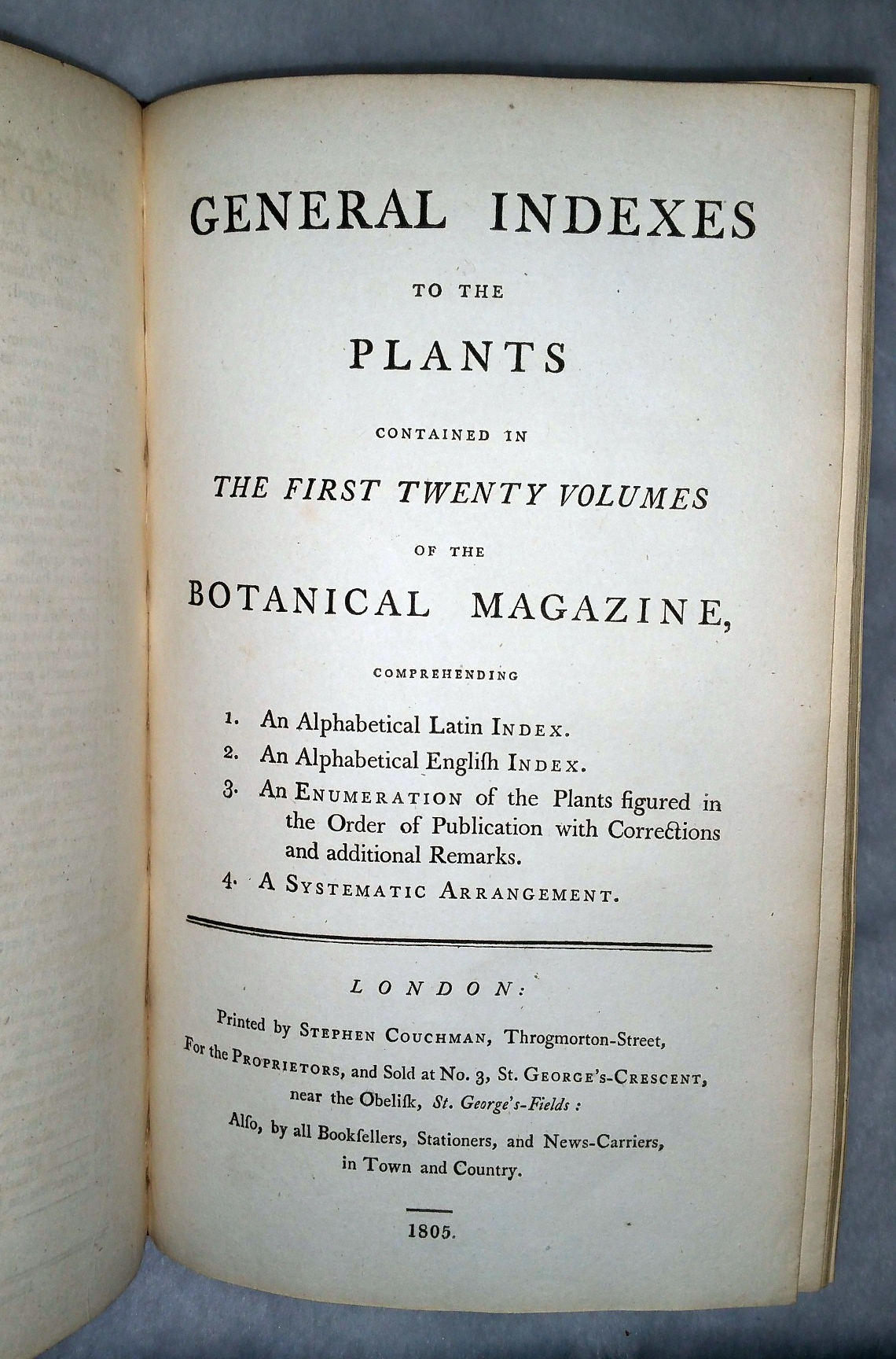 Image for Curtis's Botanical Magazine; or, Flower-Garden Displayed... [bound with] General Indexes to the Plants Contained in the First Twenty Volumes of the Botanical Magazine...