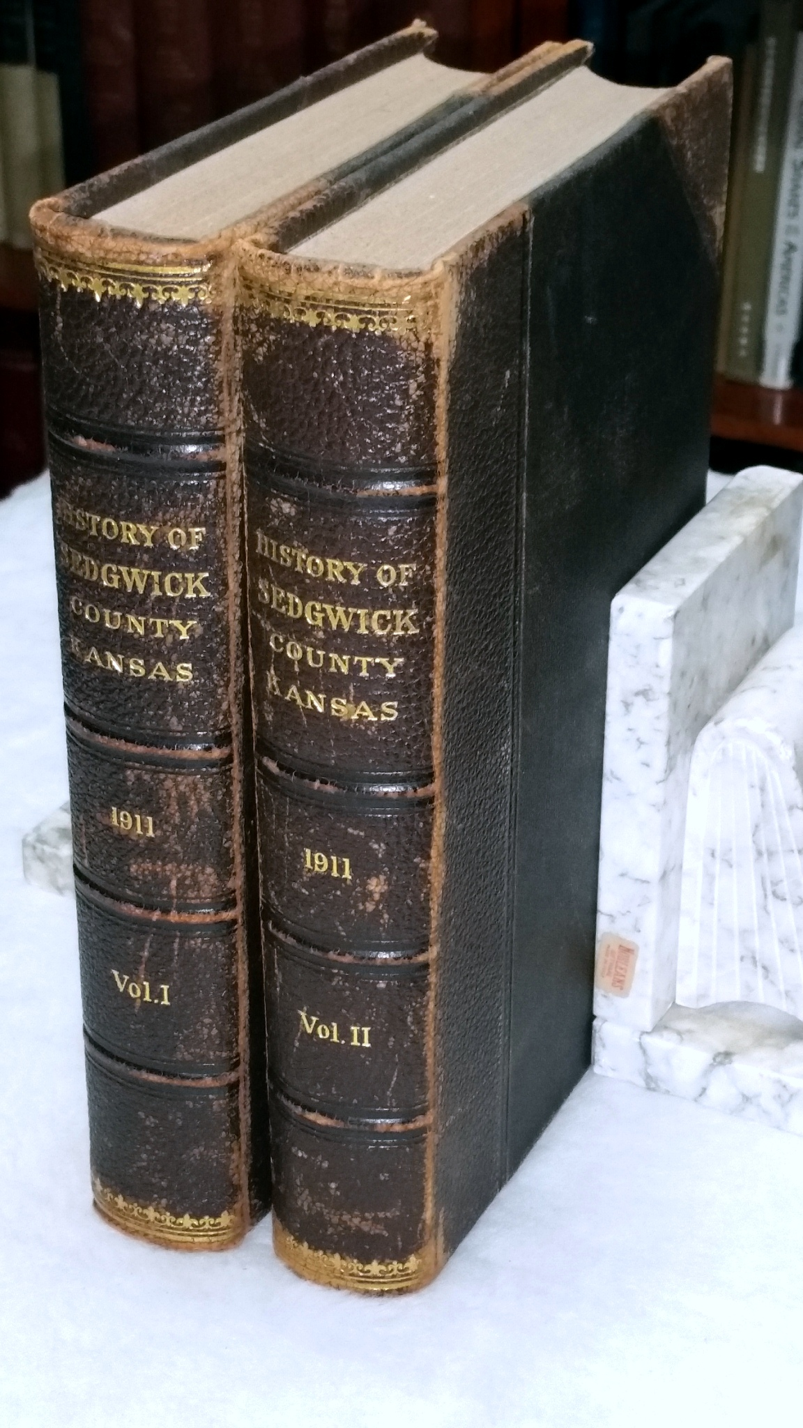 Image for History of Wichita and Sedgwick County Kansas Past and Present Including an Account of the Cities, Towns and Villages of the County (Two Volumes)