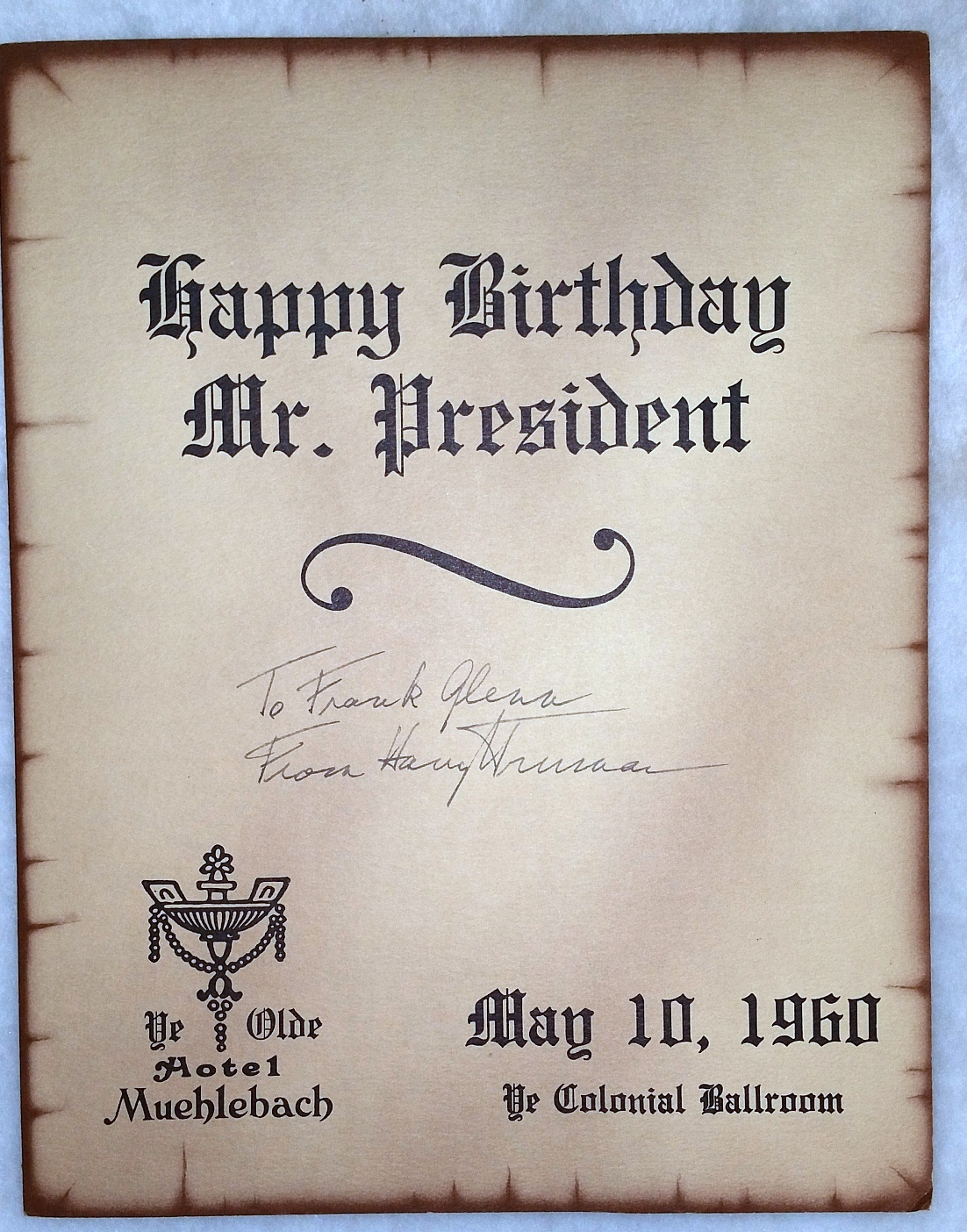 Image for Happy Birthday Mr. President:  Program from the Celebration of the President's 76th Birthday