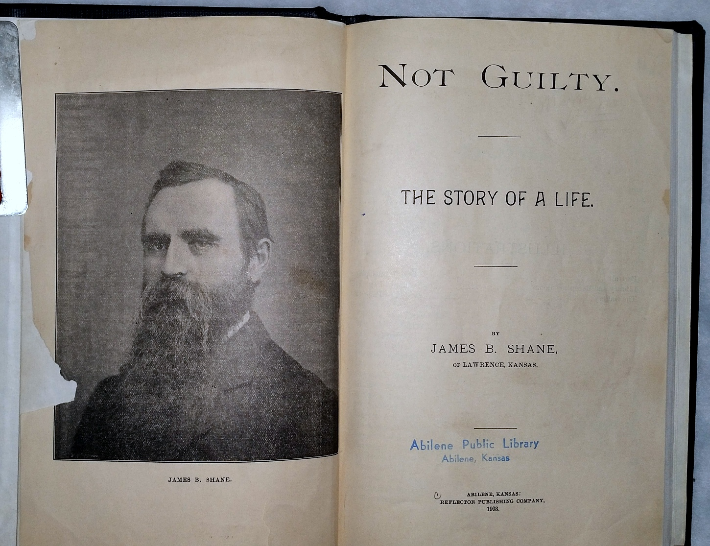 Image for Not Guilty.  The Story of a Life