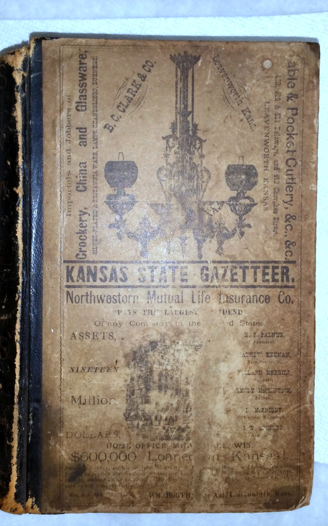 Image for Kansas State Gazetteer and Business Directory Including A Complete Business Directory of Kansas City, MO., 1878. Volume I