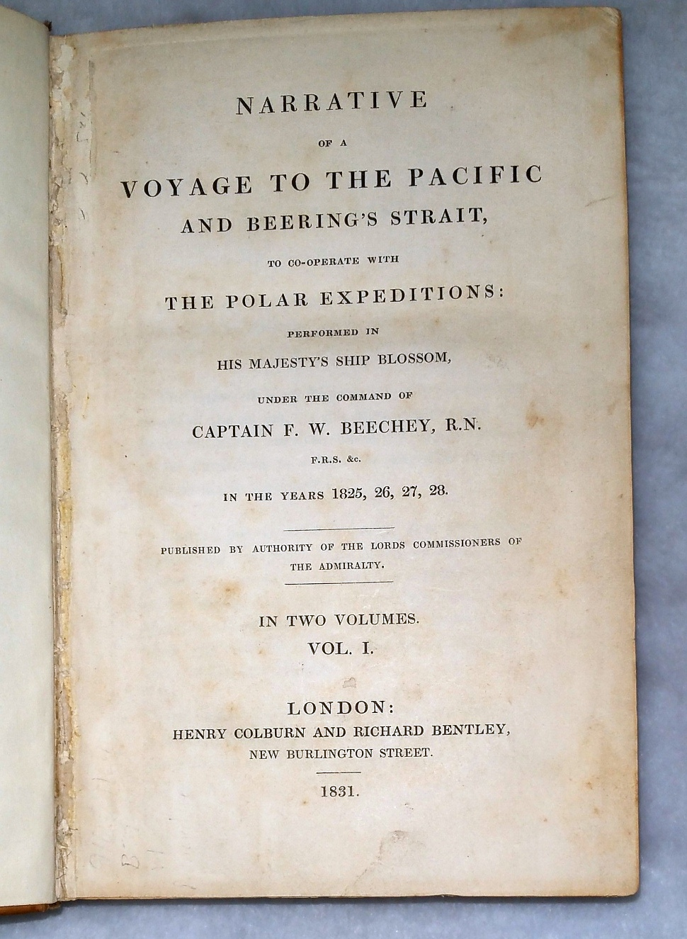 Image for Narrative of a Voyage to the Pacific and Beering's Strait, to Co-operate with the Polar Expeditions:  Performed in His Majesty's Ship Blossom, Under the Command of Captain F. W. Beechey // in the Years 1825, 26, 27, 28.