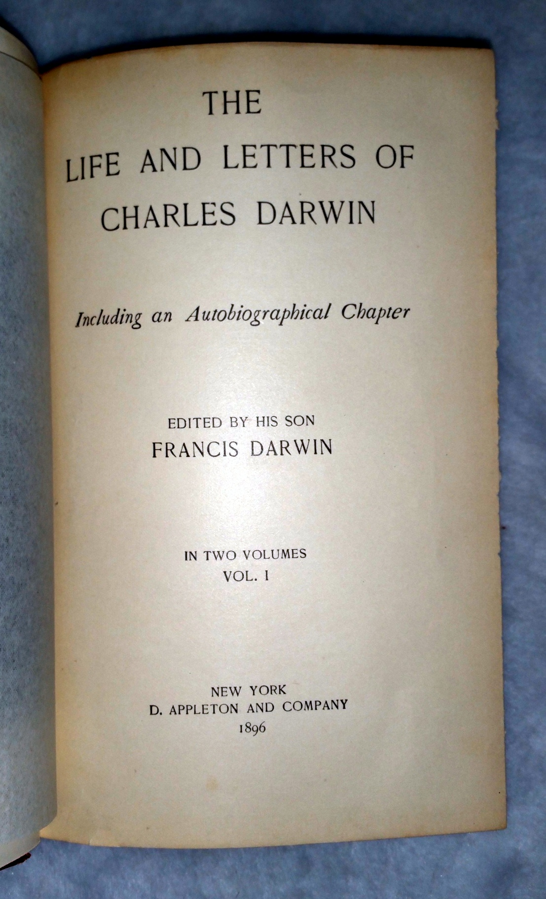 Image for The Life and Letters of Charles Darwin, Including an Autobiographical Chapter (Two Volumes)