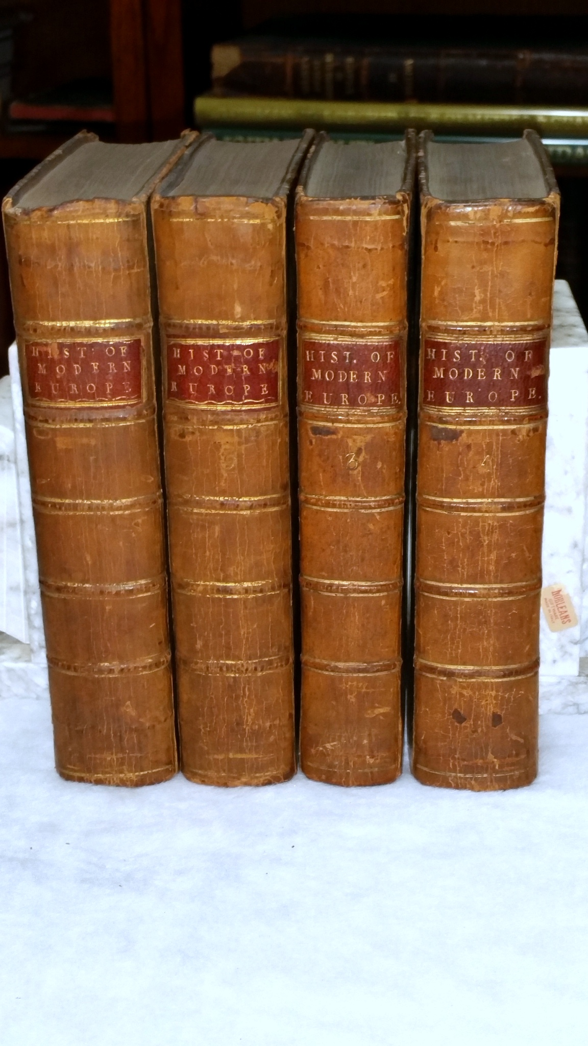Image for The History of Modern Europe.  With an Account of the Decline and Fall of the Roman Empire, and a View of The Progress of Society, from the Fifth to the Eighteenth Century.  In a Series of Letters from a Nobleman to His Son (Two Parts in Four Volumes)