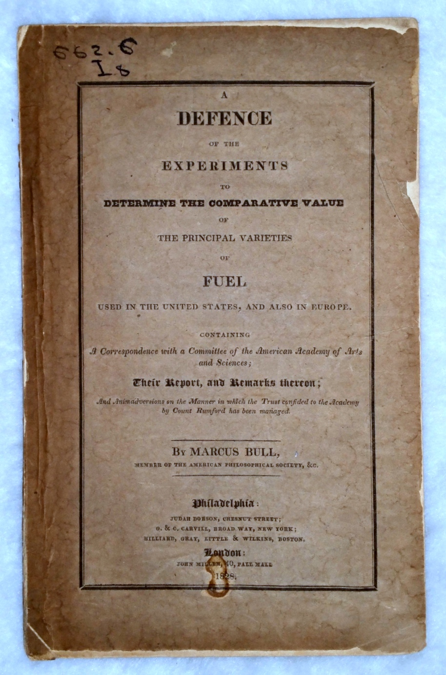Image for A Defence of the Experiments to Determine the Comparative Value of the Principal Varieties of Fuel Used in the United States, and Also in Europe, Containing A Correspondence with a Committee of the American Academy of Arts and Sciences...
