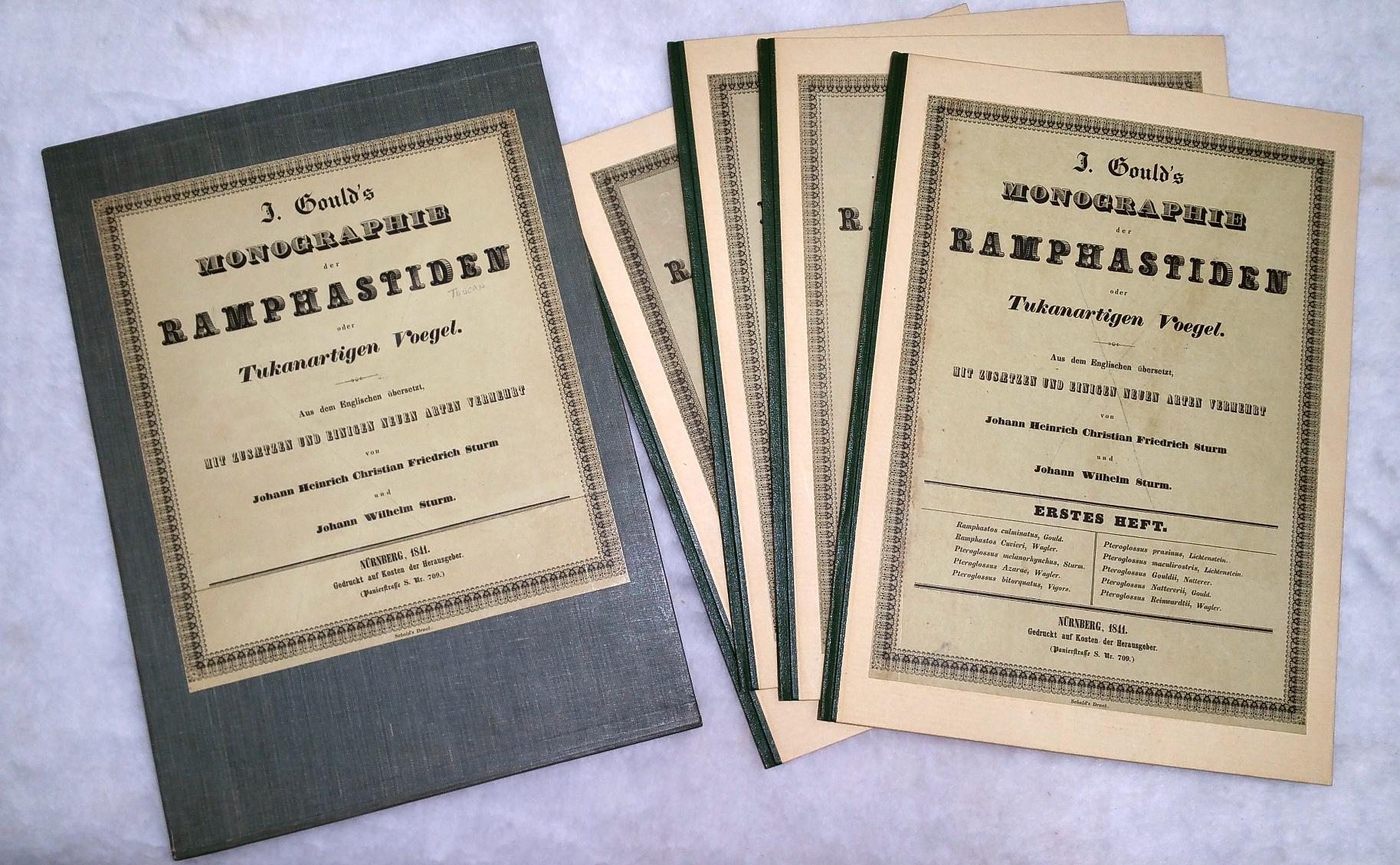J. Gould's Monographie Der Ramphastiden Oder Tukanartigen Voegel (Four Parts, Plus Prospectus)