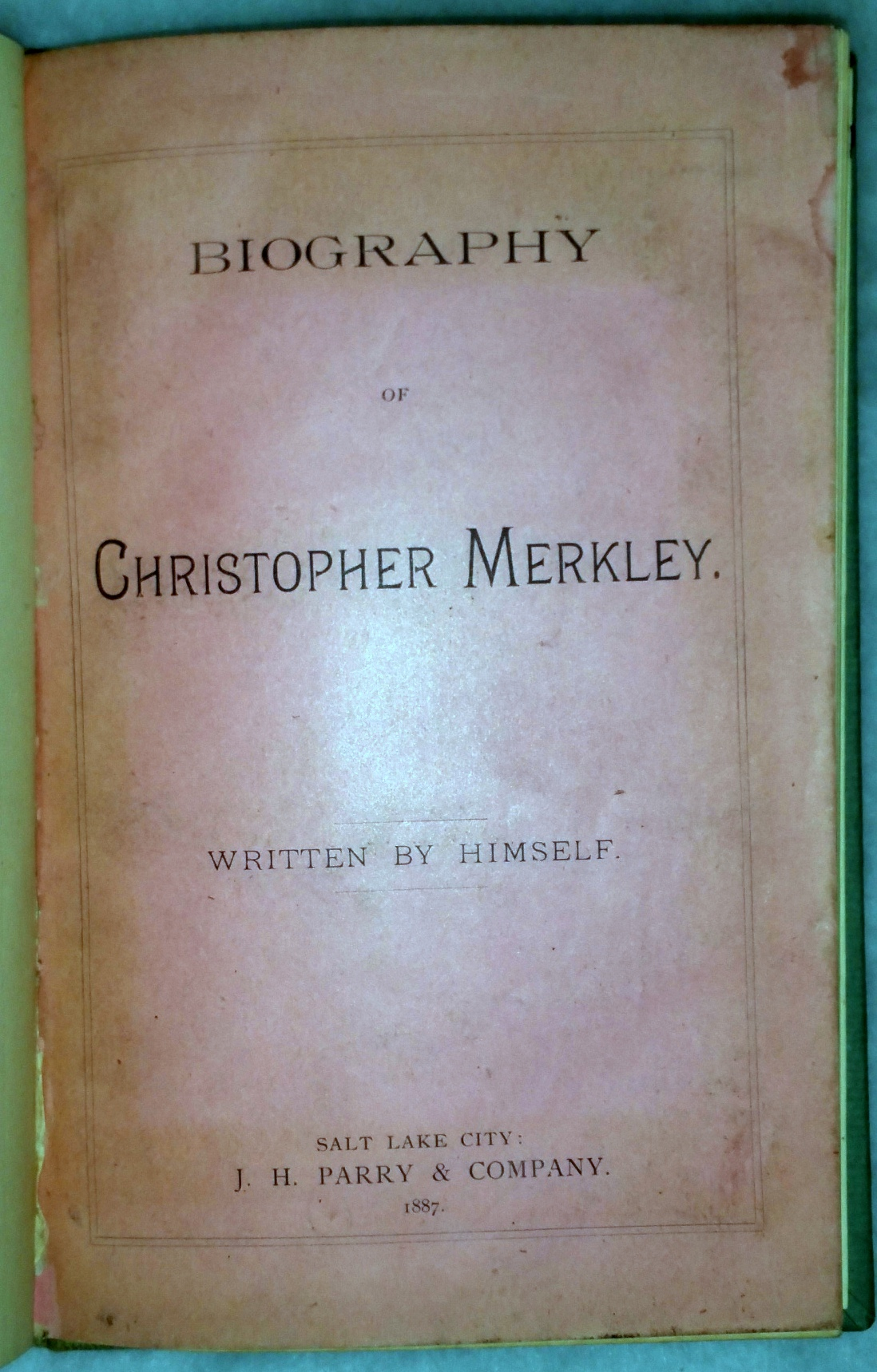 Image for Biography of Christopher Merkley