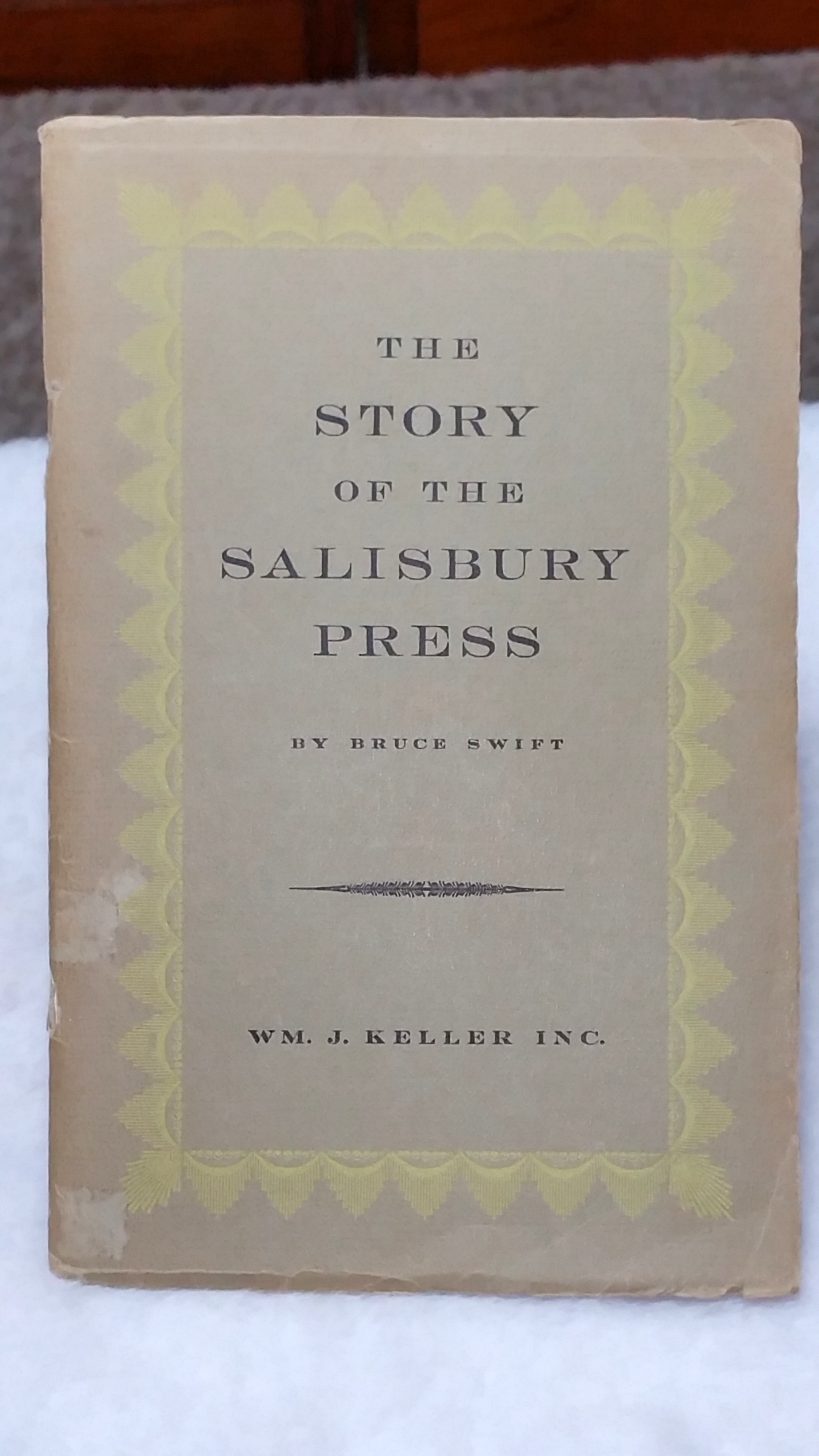 Image for The Salisbury Press:  The Story of Buffalo's First Printer