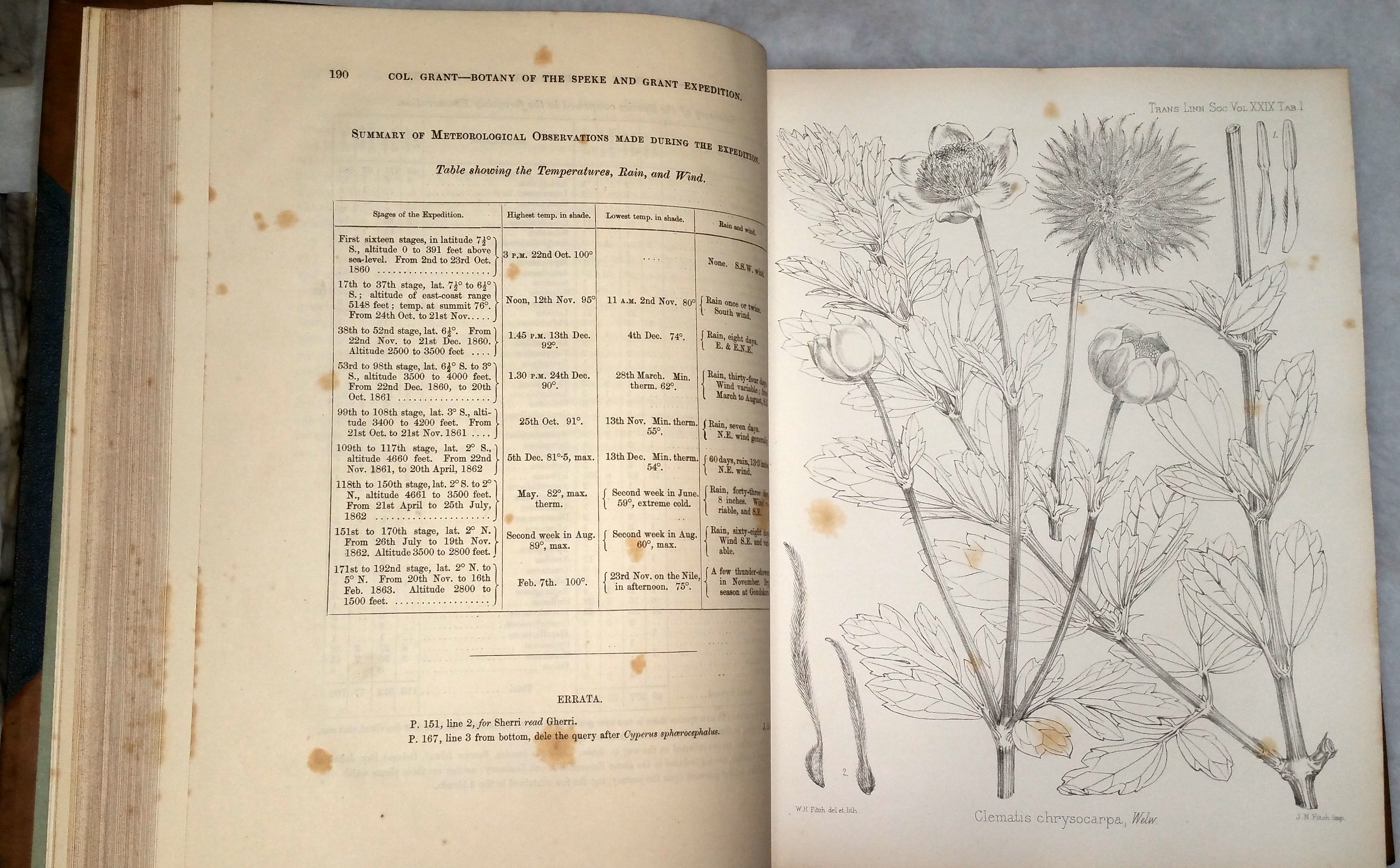 Image for The Botany of the Speke and Grant Expedition [The Transactions of the Linnean Society of London, Volume XXIX]