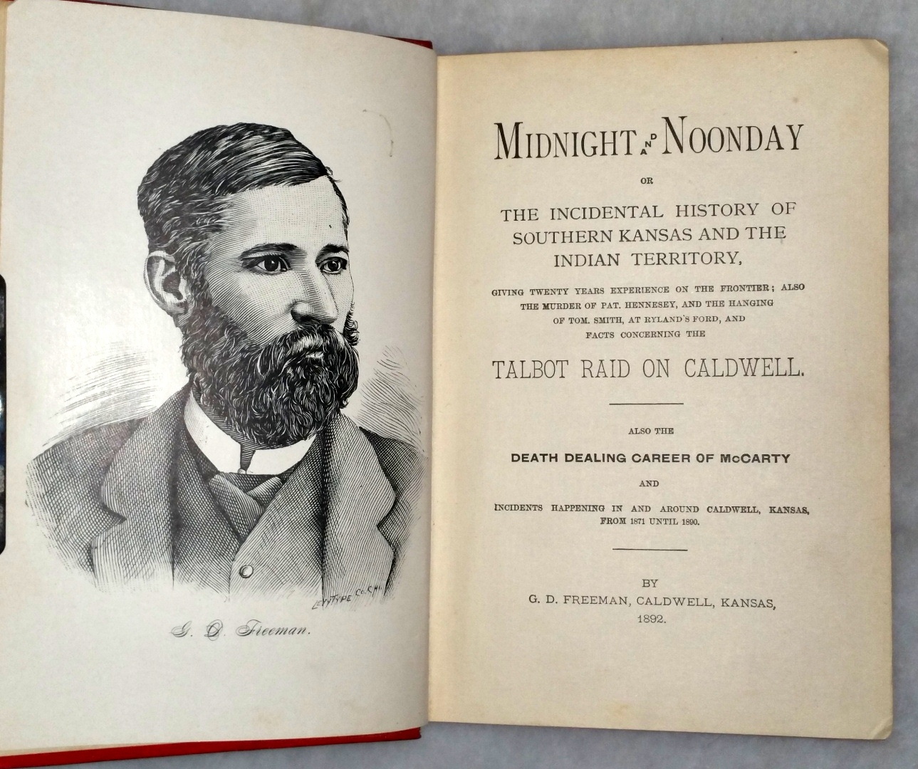 Image for Midnight and Noonday or The Incidental History of Southern Kansas and the Indian Territory... And Facts Concerning the Talbot Raid on Caldwell...