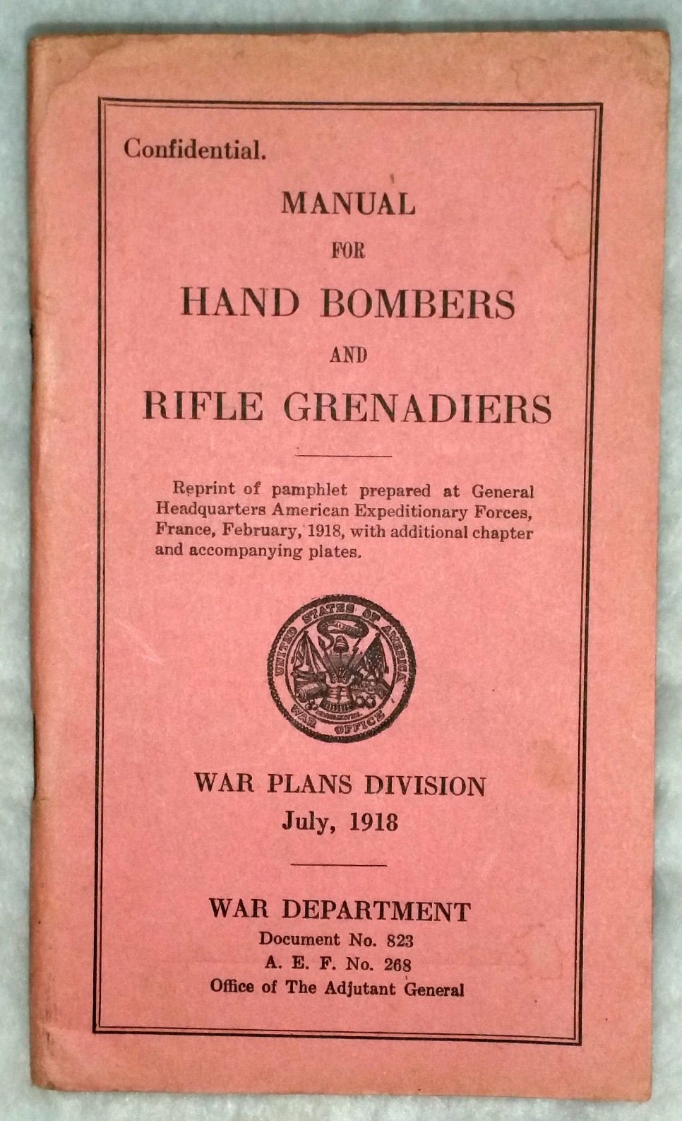 Image for Manual for Hand Bombers and Rifle Grenadiers