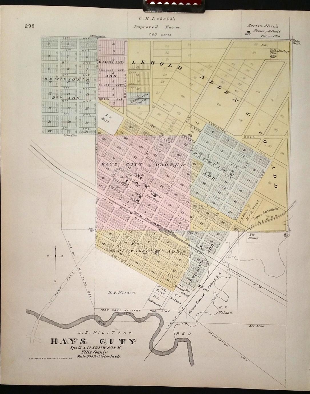 Map Ellis County Kansas Backed With Hays City Of Ellis Co