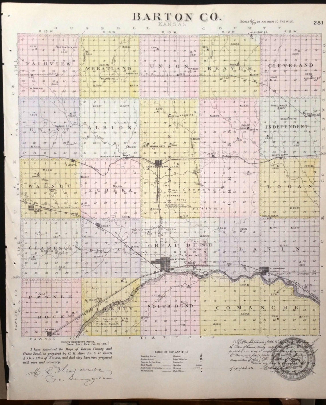 Image for [Map] Barton County, Kansas [backed with] Comanche Co.