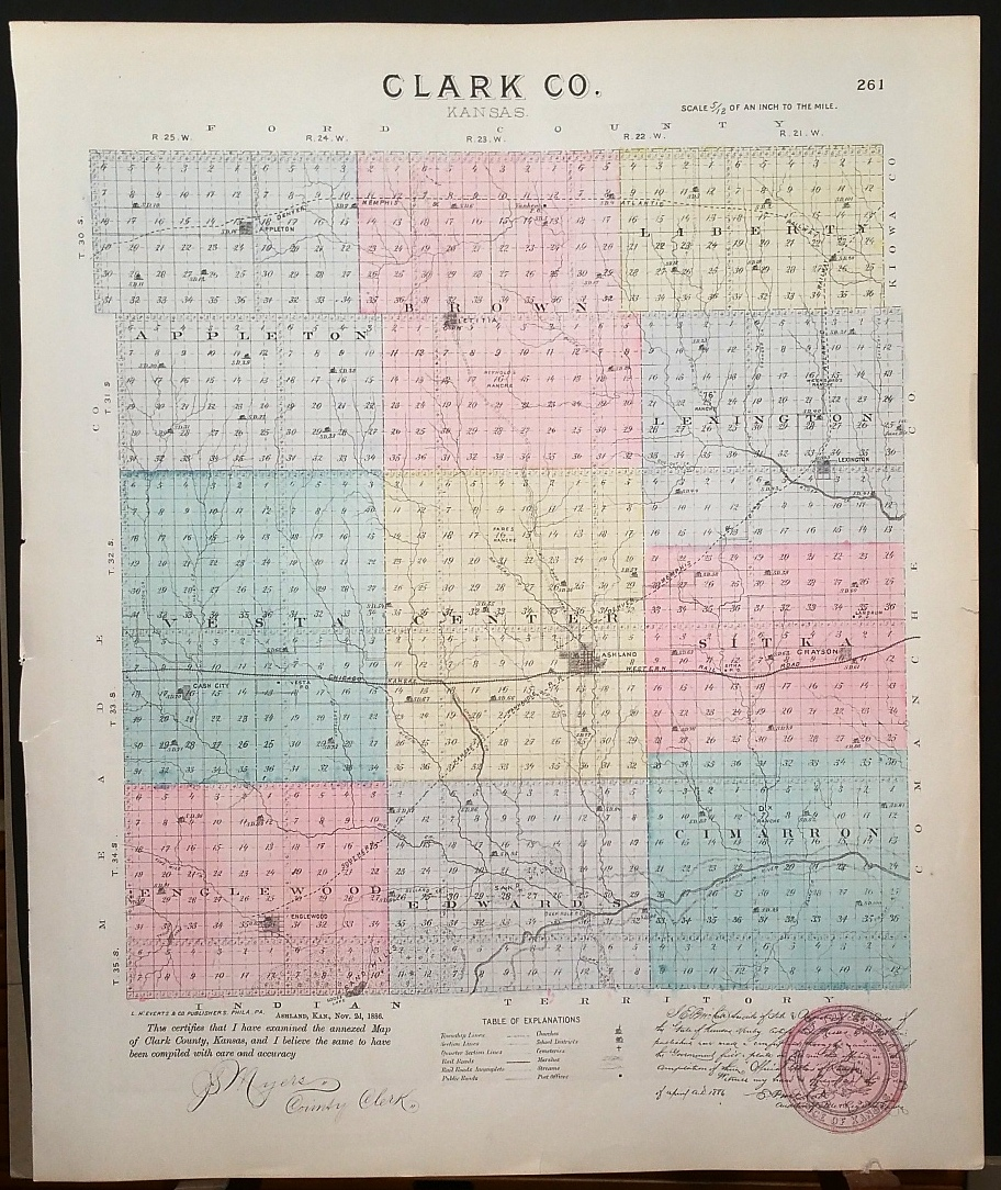 Image for [Map] Clark County, Kansas [backed with] Ashland (of Clark Co.)