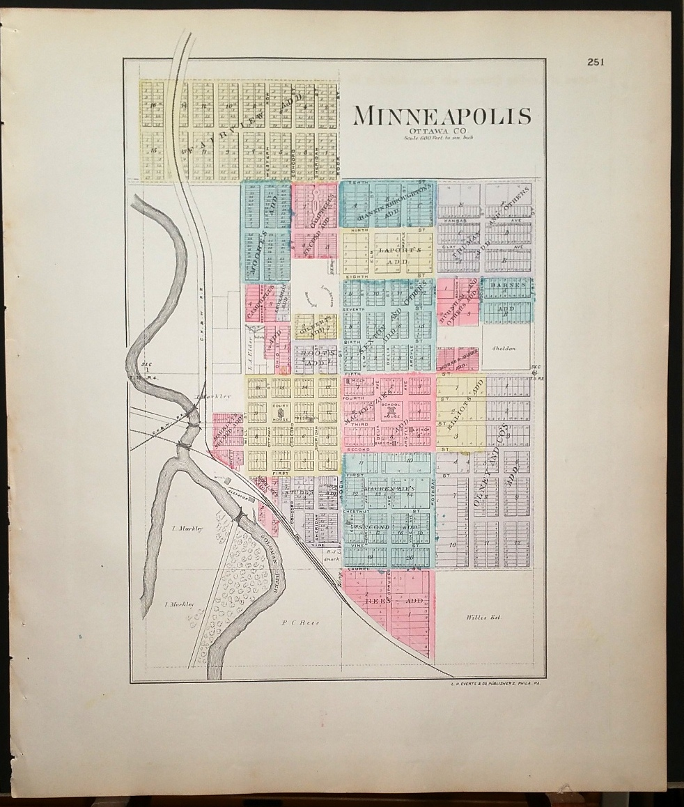 Image for [Map] Minneapolis (of Ottawa County, Kansas) [backed with] Ottawa Co.