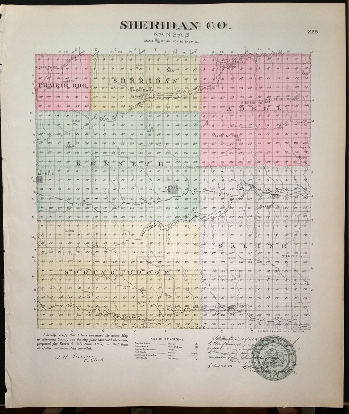 Image for [Map] Sheridan County, Kansas [backed with]  Hoxie, Sheridan (Sheridan Co.), Gaylord, Jacksonville, Cora, Reamsville, Harlan, & Cedarville (of Smith Co.)