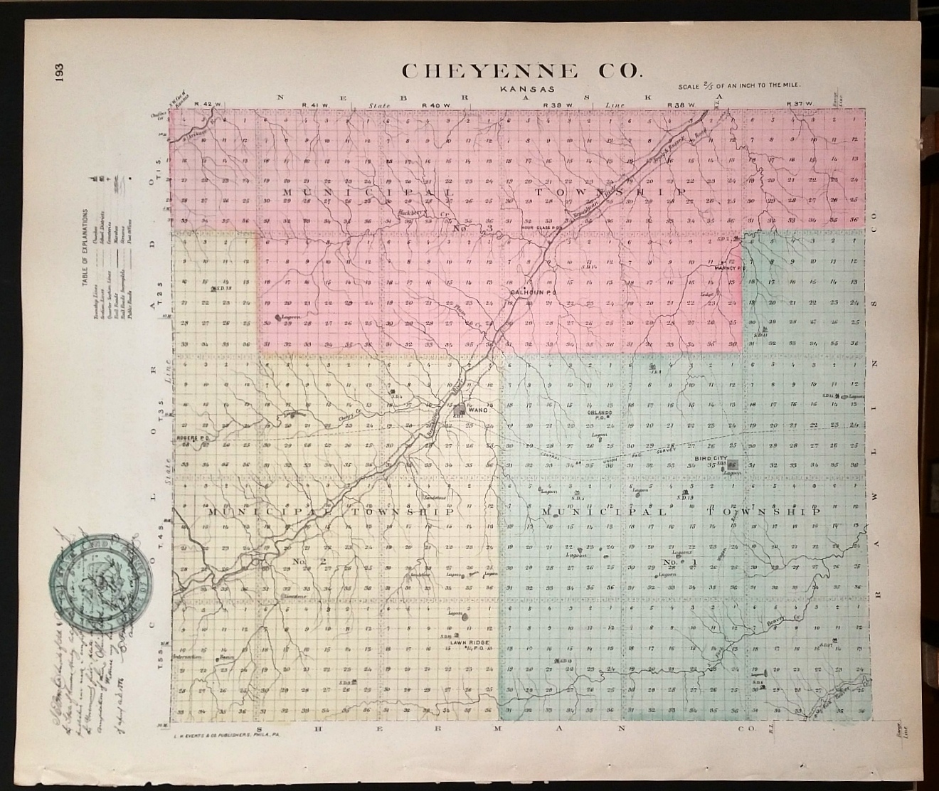 Image for [Map] Cheyenne County, Kansas [backed with] Sherman Co.