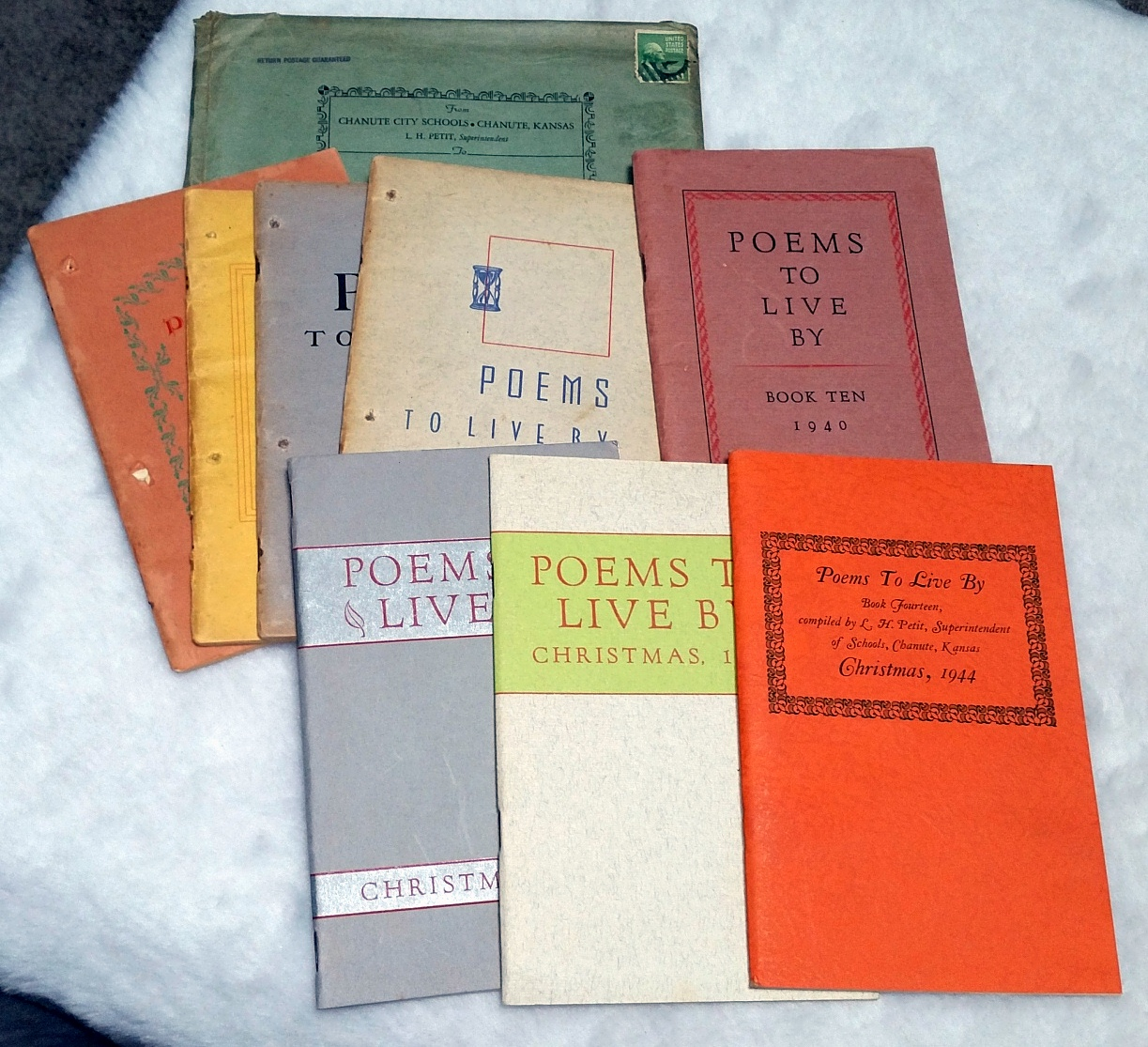 Image for Poems to Live By (Incomplete Series with Eight of the  Annual Publications)