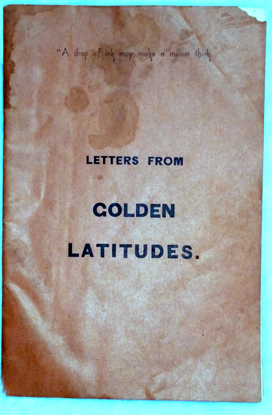 Image for Letters from Golden Latitudes
