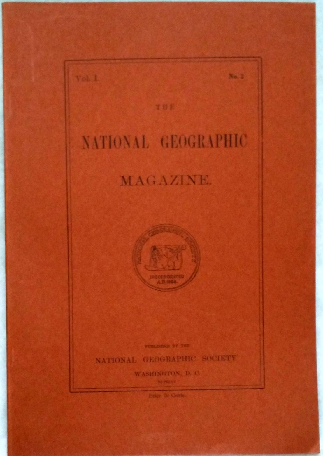 Image for The National Geographic Magazine, Vol I. No. 2