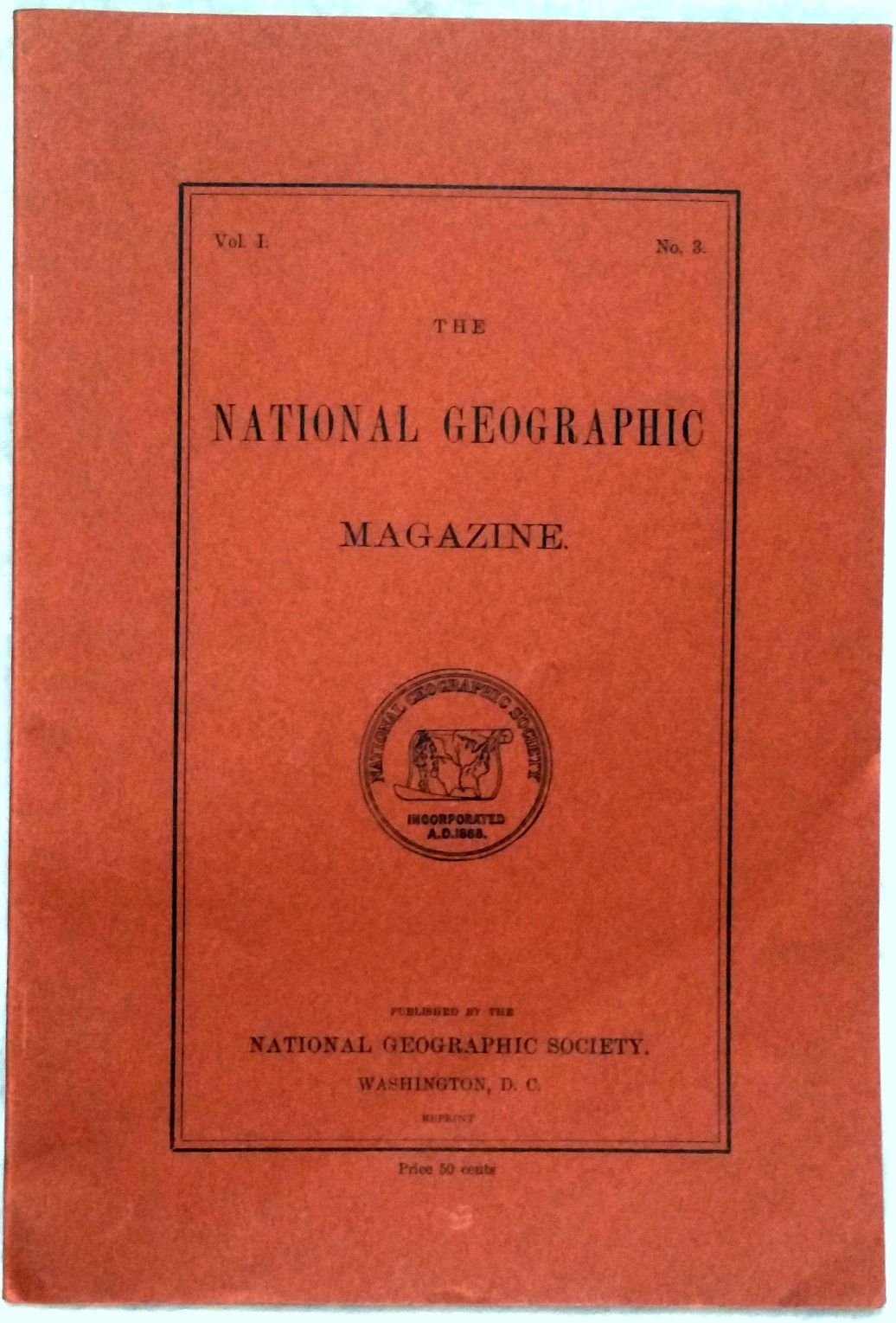 Image for The National Geographic Magazine, Vol I. No. 3