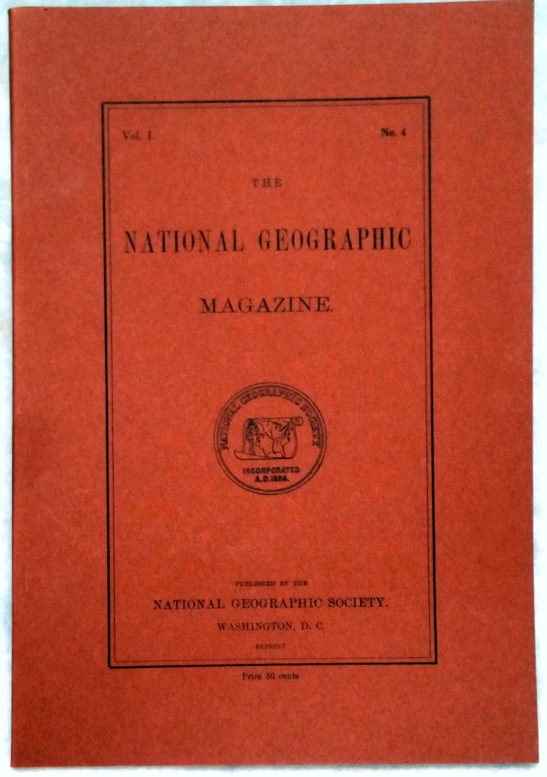 Image for The National Geographic Magazine, Vol I. No. 4