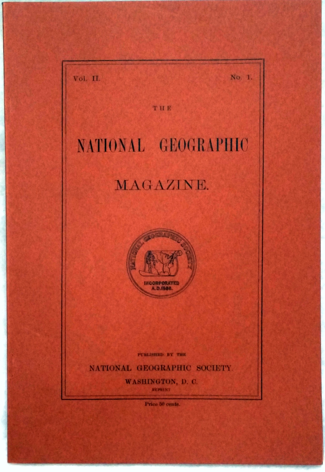 Image for The National Geographic Magazine, Vol II. No. 1
