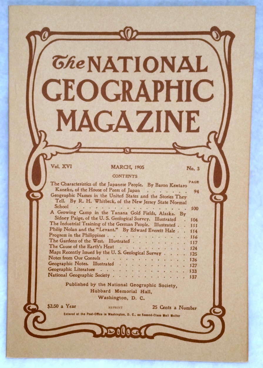 Image for The National Geographic Magazine, Vol.  XVI. No. 3, March, 1905 [Facsimile Reprint]