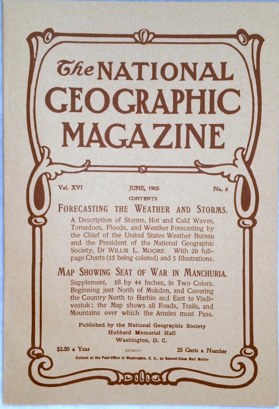 Image for The National Geographic Magazine, Vol.  XVI. No. 6, June, 1905 [Facsimile Reprint]