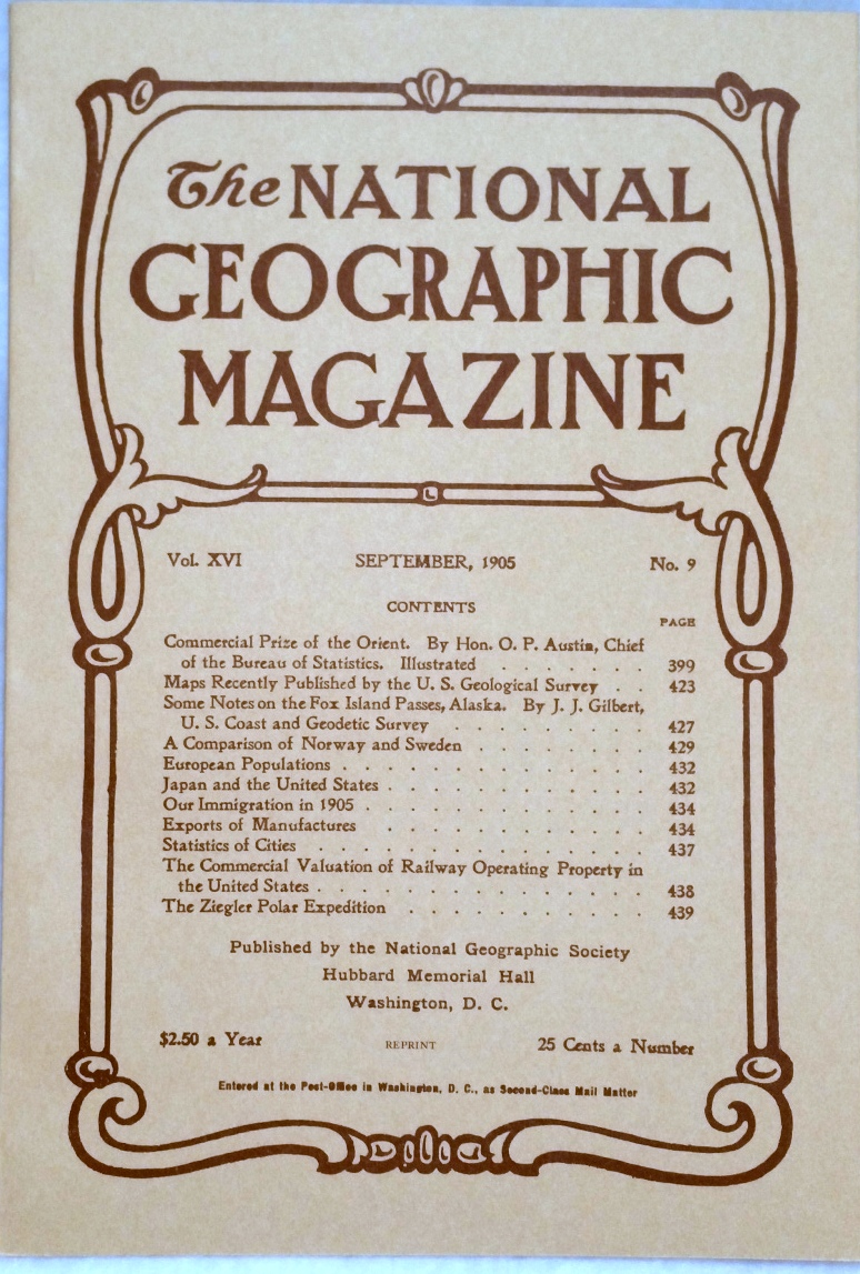Image for The National Geographic Magazine, Vol.  XVI. No. 9, September, 1905 [Facsimile Reprint]