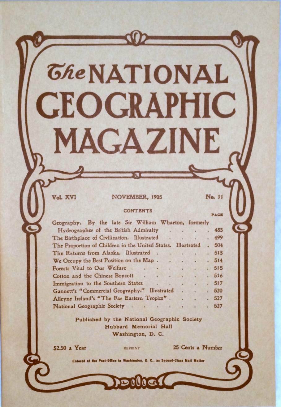 Image for The National Geographic Magazine, Vol.  XVI. No. 11, November, 1905 [Facsimile Reprint]