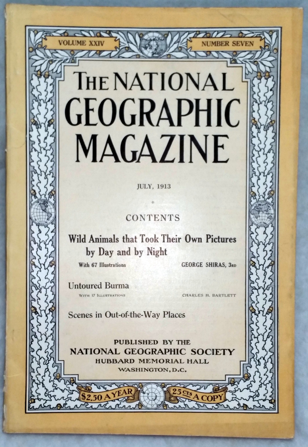 Image for The National Geographic Magazine, Volume XXIV, Number Seven [7], July, 1913