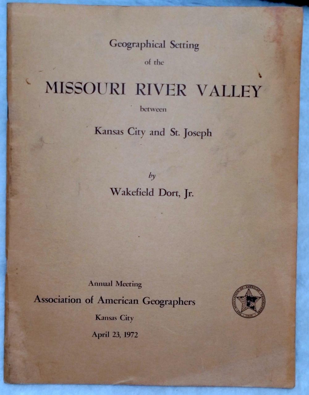 Image for Geographical Setting of the Missouri River Valley Between Kansas City and St. Joseph