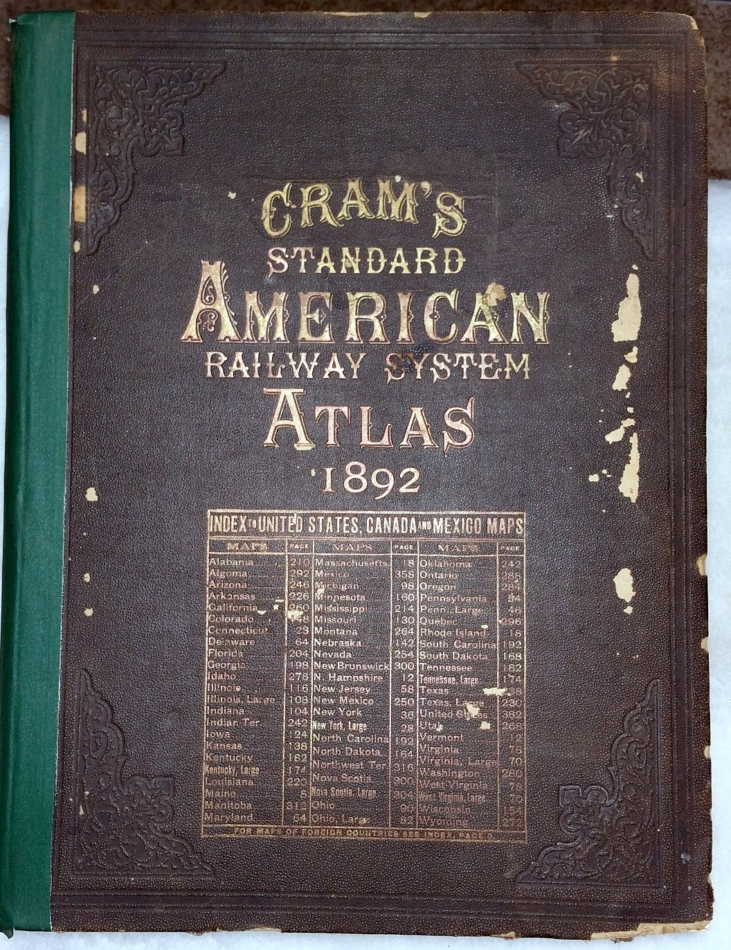 Image for Cram's Standard American Railway System Atlas of the World Accompanied By a Complete and Simple Index of the United States Showing the True Location of All Railroads, Towns, Villages and Post Offices...