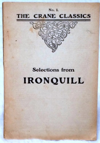 Image for Selections from Ironquill (Twentieth Century Classics and School Readings, No. 1)