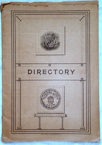 Image for Directory of Supreme, Grand and Subordinate Lodges of the Ancient Order United Workmen for the Years 1890-91