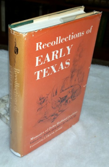 Image for Recollections of Early Texas:  The Memoirs of John Holland Jenkins
