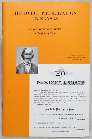 Image for Historic Preservation in Kansas, Black Historic Sites: A Beginning Point